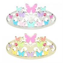 Pink Poppy Fluttering Butterfly Crown