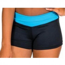 Fold over Hot Pants - Turquoise