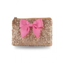 Pink Poppy Forever Sparkle Coin Purse - Gold/Pink