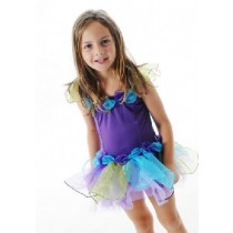 Fairy Girls Forget Me Not Tutu Dress - Purple