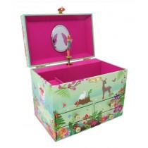 Pink Poppy Forest Fairy Medium Music Jewellery Box