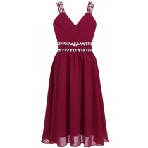Freya Dress - Burgundy