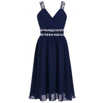 Freya Dress - Navy