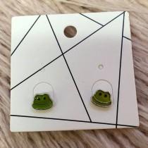Pierced Earrings - Frogs