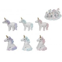 Glitter Unicorn Figurines - 10cm