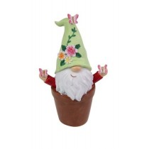 10cm Gnome Flower in Pot - Green
