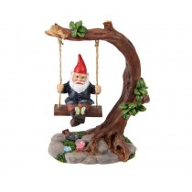 14cm Gnome on Tree Swing