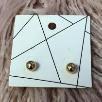 Pierced Earrings - Golden Ball