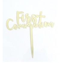 Cake Topper - Communion - Gold