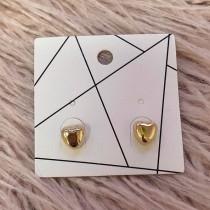 Pierced Earrings - Golden Hearts