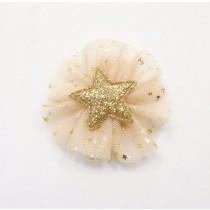 Tulle Star Hair Clip - Gold