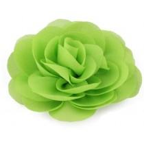 Chiffon Rose - Hair Clips - Green