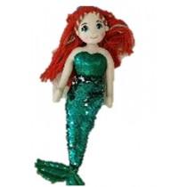 Mermaid Doll - 45cm Sequin - Green/Silver