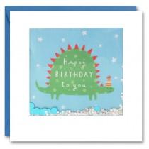 James Ellis - Shakies Card - Happy Birthday Dino