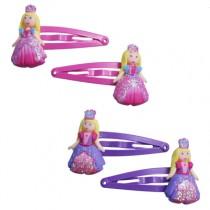 *Pink Poppy Princess Hair Clips