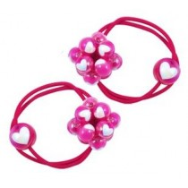 *Pink Poppy Bobble Hair Ties - Hot Pink