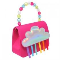 Pink Poppy Raining Rainbows Hard Handbag - Pink