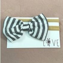Infant Headband - Striped Bow