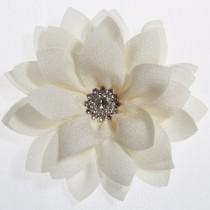 Lottus Chiffon Flower Hairclip - Ivory