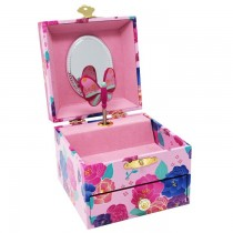 Pink Poppy My Darling Small Music Box - Pink