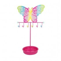 Pink Poppy Colorful Butterfly Jewellery Stand