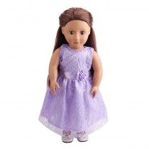 "18"" Lacy Lara Dolls Dress - Lilac"