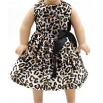 """18"""" Sparkle Dress - Leopard"""