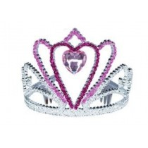 Pink Heart Tiara - Light Pink