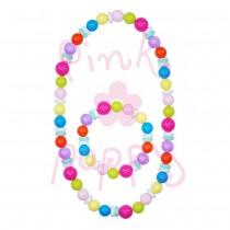 Pink Poppy Looks Like Candy Necklace & Bracelet Set