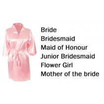 'Personalised Wedding Party Robes - Light Pink (Adult)