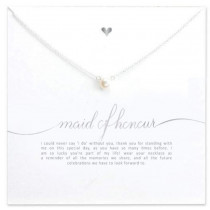 Maid of Honour Necklace - Silver