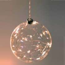 Clear Sphere Hanging Glass Light