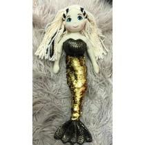 Mermaid Doll - 45cm Sequin - Black/Gold