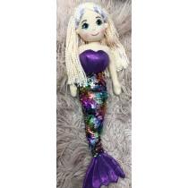 Mermaid Doll - 45cm Sequin - (Purple) Rainbow