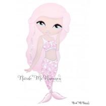 Mia Mermaid - Nicole McNamara Art Prints