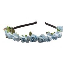 Mini Flower Headband - Dusty Blue