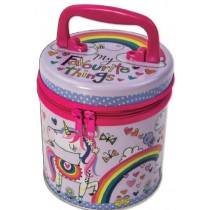 Rachel Ellen My Favourite Things Unicorn & Rainbow Zipped Tin