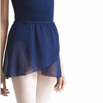 Chiffon Pull On Elastic Skirt - Navy