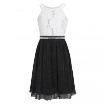 Norah Dress - Black/White