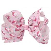 "Unicorn 4.5"" Bow Clip - Pale Pink"