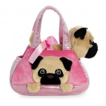 Fancy Pals Plush Pug Pet Bag