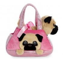 Fancy Pals Peek a boo Pug Pet Bag