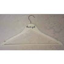Personalised White Wooden Coat Hangers