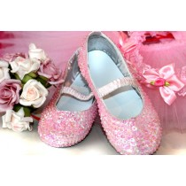 Sequined Shoes - Pink