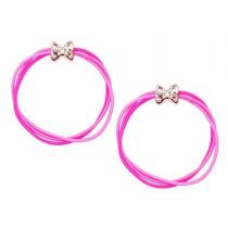 *Pink Poppy Playful Cute Bow Hair Elastics - Pink