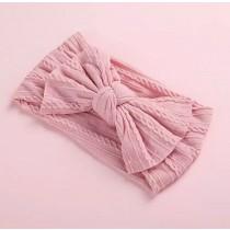 Wide Bow Headband - Pink