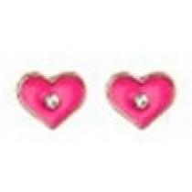 Pierced Earrings - Pink Hearts