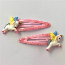 Pink Pegasus Hair Clip Set (2pc)