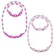 Pink Poppy High Tea Bracelet and Necklace