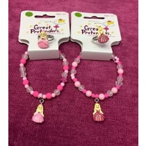 Pink Princess Ball Gown Bracelet & Ring Set